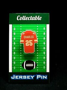 Kansas City Chiefs Jamaal Charles jersey lapel pin-Classic team Collectable