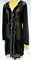 TS jacket TAKING SHAPE plus sz XXS/12 Finite Lace Cardy feminine light NWT