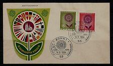 BRD FDC MiNr 445-446 (1b) l'Europa (CEPT) 1964-Associazione-confederazione di Stati-politica -