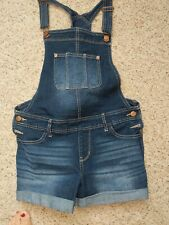 NOBO Junior's Denim Vintage 90's Overall Relaxed Fit Stretch Blue Size M, 7-9