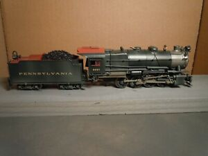 HO BRASS LMB PRR/PENNSYLVANIA C-1 0-8-0 CUSTOM PAINTED AND WEATHERED CAN MOTOR