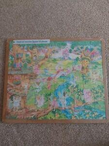 Hand Cut Wooden Jigsaw,  80 Pieces.  Fairies