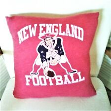 NEW ENGLAND PATRIOTS tee shirt pillow cover repurposed fits 15x15 inch pillow