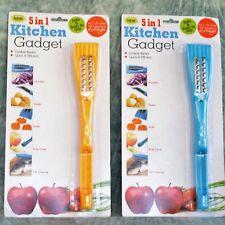 5 in 1 Kitchen Gadget Tool Shredder Peeler Knife Fruit Corer Clean Fish Lot of 2