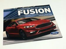 2017 Ford Fusion Redesign Launch Preview Brochure