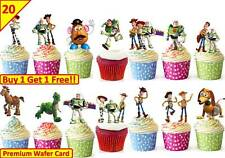 40 TOY STORY Birthday Party Cup Cake Decorations Edible Wafer Toppers STAND UP