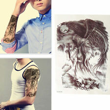USA SHIP New Skull  Waterproof Temporary Tattoos Arm Leg Body Art Makeup Tattoo