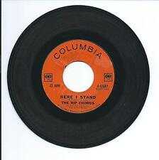 "1963 THE RIP CHORDS ""HERE I STAND"" 45rpm 7"""