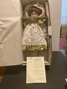 "NIB Marie Osmond Fine Porcelain Christmas Doll Limited Edition ""Bryanna"""