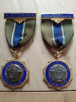 🏅 RARE Collectable Antique American Legion Medal Historian / Past Commander Pin