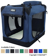 EliteField 3-Door Folding Soft Dog Crate, Indoor & Outdoor Pet Home, Multiple L