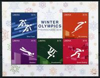 Liberia 2018 MNH Winter Olympics PyeongChang 5v M/S II Speed Skating Stamps
