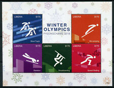 Liberia 2018 MNH Winter Olympics PyeongChang 5v M/S II Speed Skating Stamps