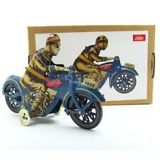 Old Antique I-922 Motorcycle w. Driver Windup Tin Toy Mechanical Collectible