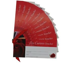 Set of 12 Love Vouchers | Romantic Blank IOU Cards | Anniversary Valentine Gift