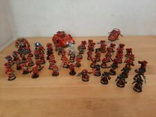 Lot armée Warhammer 40k blood angels - 62 figurines + 3 véhicules + 1 codex