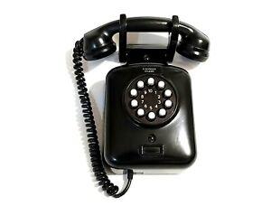 Antico Telefono Da Muro Siemens Milano in Bachelite Nero a Pulsanti DC2525/21