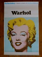 Andy Warhol Original Tate Gallery Exhibition Poster 1971