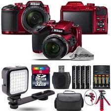 Nikon COOLPIX B500 RED Camera 40x Optical Zoom + LED + Case - 32GB Kit Bundle