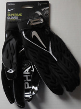 Nike Men's Superbad 6.0 Football Gloves Black/Black/White Size L
