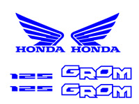 Honda GROM Decal Kit BLUE Sticker Motorcycle 125 graphics decals stickers