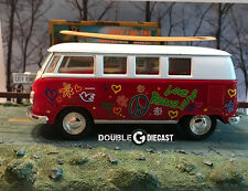 1:32 KINSMART 1962 VOLKSWAGEN CLASSICAL BUS WITH SURF BOARD (Red)