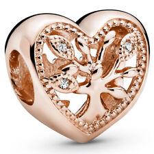 PANDORA ROSE Charm Element 788826 C01 Family Tree Heart Herz Bead