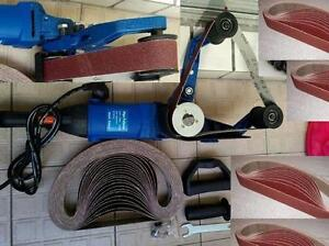 Pipe Tube Polisher 35 Belt Sander wood iron metal rust painting stain remover