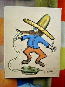 HAND PAINTED EL MEXICANO ( MEXICAN ) BY A R WARD UNFRAMED 60 X 50 cm see all C