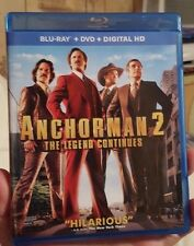 Anchorman 2: The Legend Continues (Blu-Ray + DVD, 2014) NO DIGITAL CODE