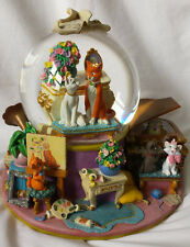 Rare Disney's Aristocats Musical Snow Globe Plays Ev'rybody Wants to be a Cat