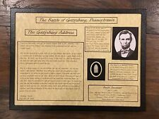 The Gettysburg Address, Ab. Lincoln Display Case with Authentic Bullet with COA
