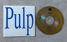 CD AUDIO INT/ PULP CD SINGLE PROMO CARD SLEEVE ULTRA RARE 4353 ISLAND RECORDS
