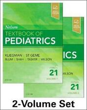 Nelson Textbook of Pediatrics, 2-Volume Set by Kliegman - NEW EXPEDITED SHIPPING