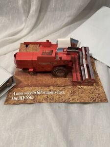 Massey Ferguson 550 combine fold-out 3-D advertising. From the mid 1970's.