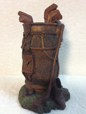 VTG Detailed GOLF 50s THEME PEN/PENCIL HOLDER Resin Great Fathers Day Gift euc