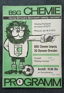 Orig. Programm 70/71 BSG Chemie Leipzig SG Dynamo Dresden DDR Oberliga Fußball