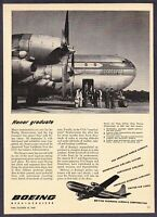 "1948 Boeing Stratocruiser Airplane photo ""Passed CCA Testing"" vintage print ad"