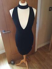 Stunning Stylish Ladies/Girls Black NEW LOOK Dress Size 8 Halter Neck 5972
