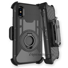 Rugged Hybrid Combo Heavy Duty Hard Case Cover Belt Clip Holster Stand For Phone