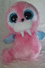 "Ty Beanie Boos Tusk the Walrus Big Eyes Pink Blue Animal 6"" Zoo Toy Plush Cute"
