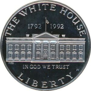 USA 1 Dollar 1992 W Weisses Haus PP Silber*