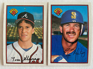 1989 BOWMAN BASE #1-250 BASEBALL CARDS YOU PICK COMPLETE YOUR SET SINGLES ROOKIE