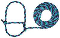 Weaver Livestock Cattle Poly Rope Halter - 7' Long Lead, Cow Size