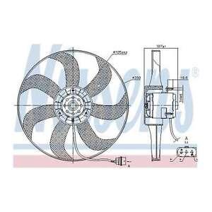 Fits VW Golf MK4 1.8 4motion Genuine Nissens Engine Cooling Radiator Fan