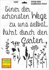 Schablone-Stencil A3 434-5462  Einer der schönsten Wege -Neu- Heike Schäfer