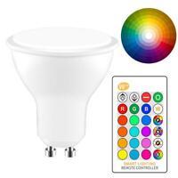 GU10 8W LED Light Globe Bulb Spotlight Lamp Dimmable DownLight RGB Warm White