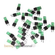 50x GREEN INDICATOR LEDS Diffused Rectangular 2x4.5mm Audio Hardware - AUS STOCK