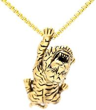 Animal Tiger Tag Pendant Necklace,22inches Xusamss Hip Hop Stainless Steel