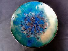 1950 's Myrna Eaton Enamel Copper Art Bowl Abstract - Much Better In Person